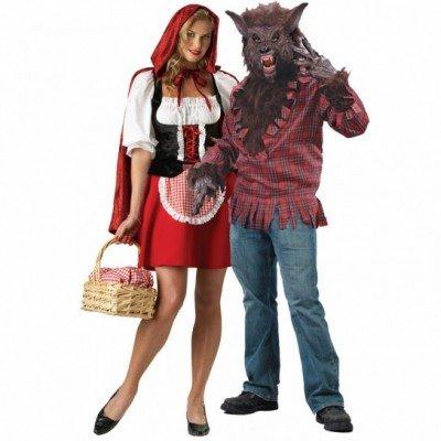 cappuccetto rosso vestito di coppia