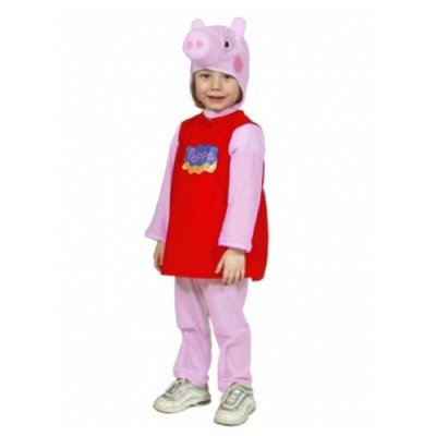 costume di carnevale di peppa pig