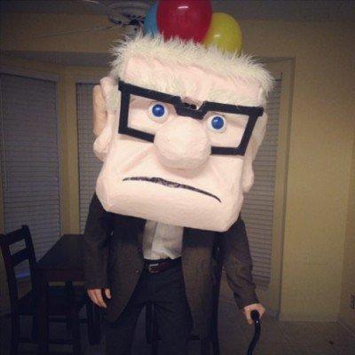 carl vecchietto up costume e maschera