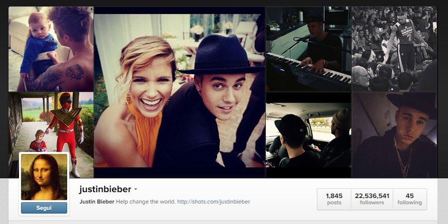 Personaggi più seguiti su Instagram