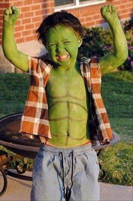 costume di carnevale di hulk